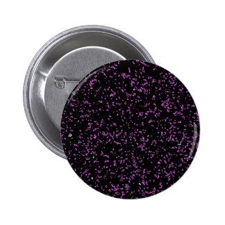 Fractal Art Purple Pink Glitter Patterns Black Pinback Button