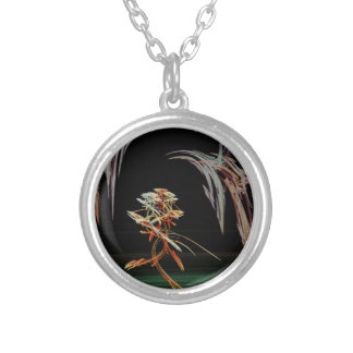 Fractal Art Silver Plated Necklace