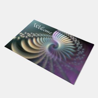 Fractal Art - SOFT ENERGY SPIRAL + your ideas Doormat
