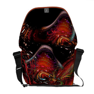 Fractal Art Wild-and-Crazy Design Messenger Bag