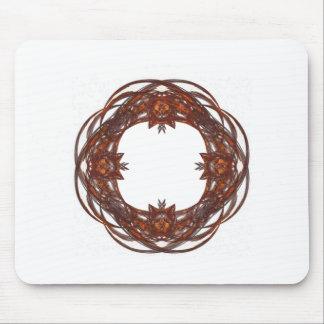 Fractal Art Wreath/Frame Mouse Pad