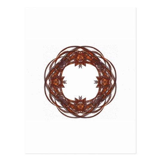 Fractal Art Wreath/Frame Postcard