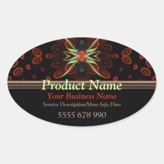 Fractal Artistry Product Label Oval Sticker