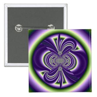 Fractal aura pinback button