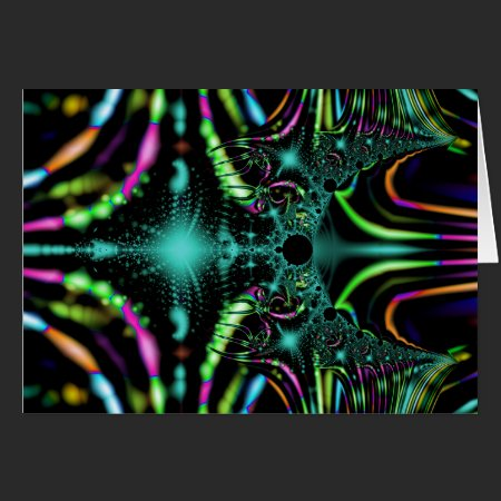 Fractal Aurora Greeting Card