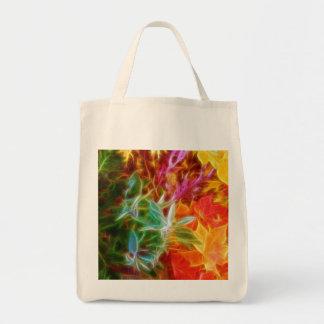 Fractal Autumn Leaves Rainbow Bags