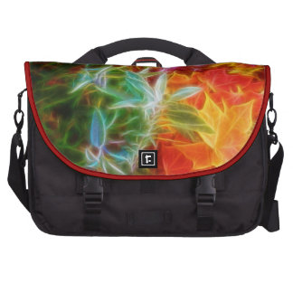 Fractal Autumn Leaves Rainbow Laptop Computer Bag