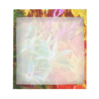 Fractal Autumn Leaves Rainbow Memo Note Pads