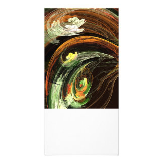 Fractal - Autumn Leaves Swirling Wind Photo Card