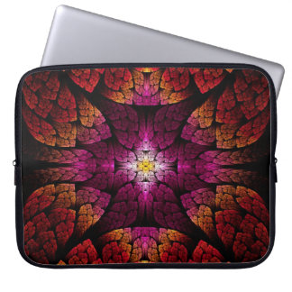 Fractal - Aztec - The all seeing eye Laptop Computer Sleeves