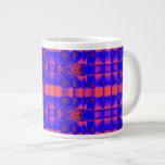 fractal azul anaranjado brillante taza jumbo