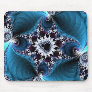 Fractal azul asombroso tapetes de raton