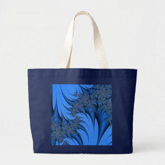 Fractal azul bolsa de mano