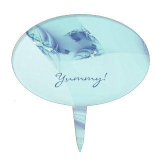 """Fractal """"azul congelado """" decoración para tarta"""