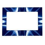Fractal azul de la joya de la explosión de la luz marcos magnéticos