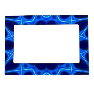 Fractal azul de la luz laser marcos magnéticos de fotos