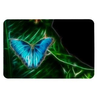 Fractal azul de la mariposa de Morpho Imán Flexible