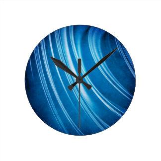 Fractal azul de los cantos reloj de pared