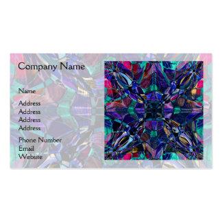 Fractal azul del caleidoscopio tarjetas personales