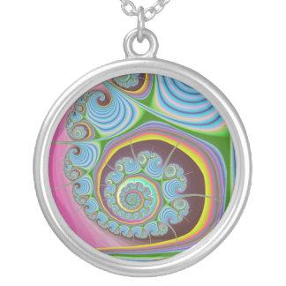 Fractal azul del espiral del Seashell Grimpolas
