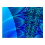 Fractal azul del rastro postal