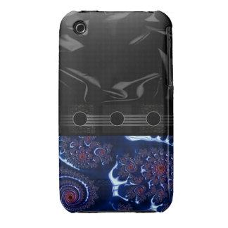 Fractal azul hermoso Case-Mate iPhone 3 carcasa