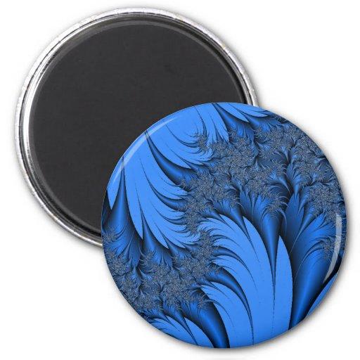Fractal azul iman de frigorífico