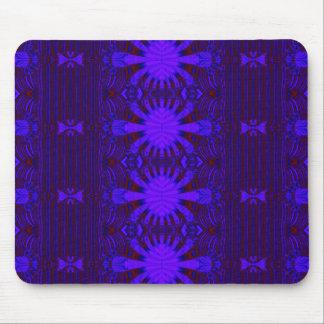 Fractal azul marino mouse pads