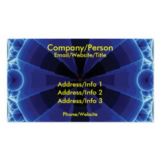 Fractal azul marino tarjetas de visita