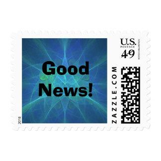 Fractal azul postage