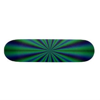 Fractal Azul-Verde-Negro en el monopatín