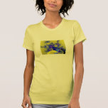 Fractal azul y amarillo camiseta