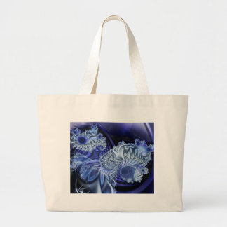 fractal-azules, bolso bolsa