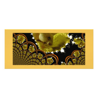 Fractal Baby Chihuahua Bookmarks Rack Card