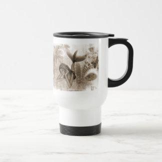 Fractal Background 3D Mermaid Brown 15 Oz Stainless Steel Travel Mug