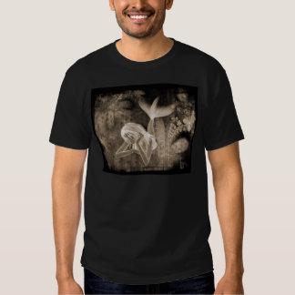 Fractal Background 3D Mermaid Brown Negative Shirt