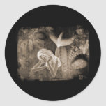 Fractal Background 3D Mermaid Brown Negative Stickers