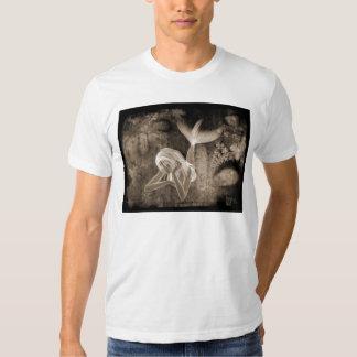 Fractal Background 3D Mermaid Brown Negative Tshirt