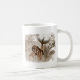 Fractal Background 3D Mermaid Classic White Coffee Mug