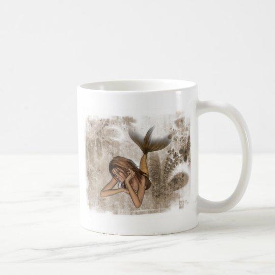 Fractal Background 3D Mermaid Coffee Mug