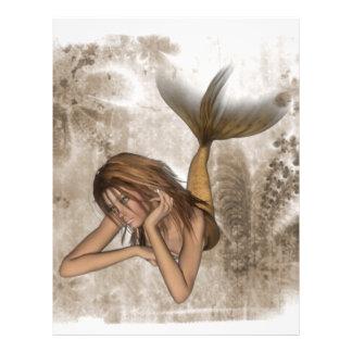 Fractal Background 3D Mermaid Flyer