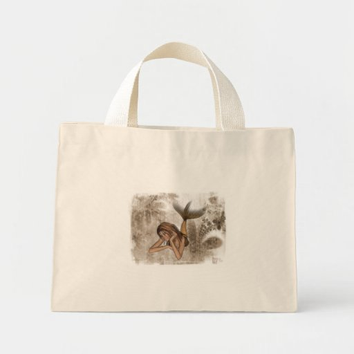 Fractal Background 3D Mermaid Mini Tote Bag