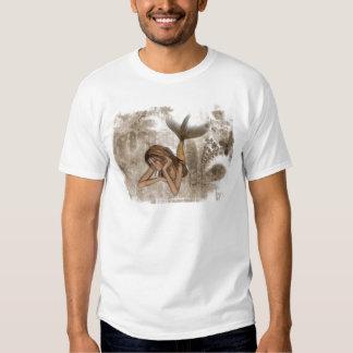 Fractal Background 3D Mermaid T-shirts