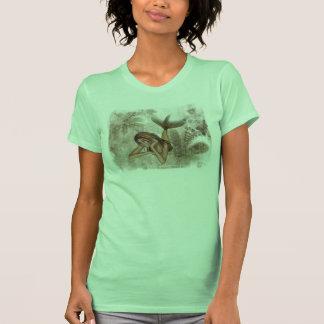 Fractal Background 3D Mermaid Tee Shirt