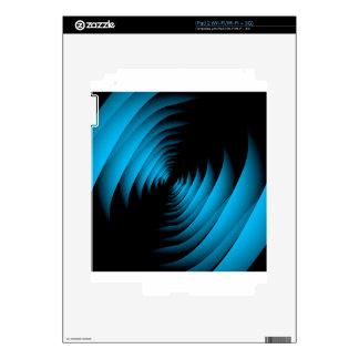 Fractal background forming depth iPad 2 skins