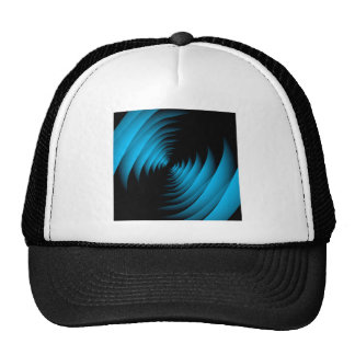Fractal background forming depth trucker hat