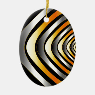 Fractal background with metal ceramic ornament
