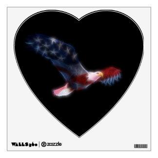 Fractal Bald Eagle American Flag Wall Decal