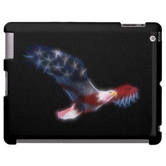 Fractal Bald Eagle Flag Patriotic iPad Case