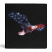 Fractal Bald Eagle Patriotic Binder